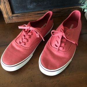 Old Navy Red Canvas Lace Up Sneakers
